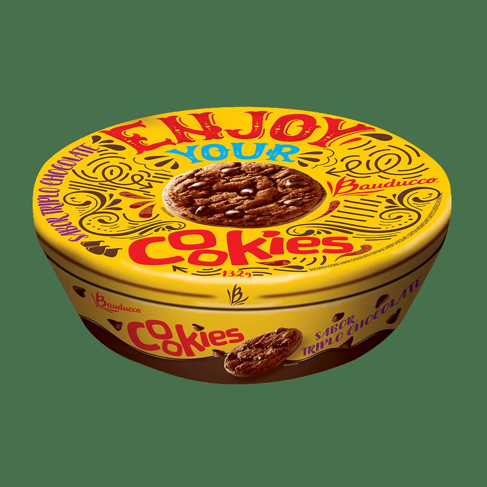 Lata Cookies Triplo Natal